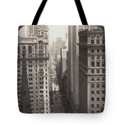 Looking Up Broadway In Nyc Tote Bag