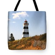Looking Up From The Dunes At West Point Light Tote Bag