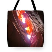Looking Up In Antelope Canyon Tote Bag