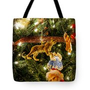 Looking Up The Christmas Tree Tote Bag