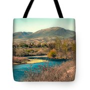 Looking Up The Payette River Tote Bag