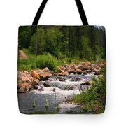Looking Up The Rapids Tote Bag