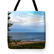 Looking West At The Fishing Boats Tote Bag