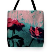 Looks Like Painted Roses Abstract Tote Bag