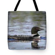 Loon And Reflection Tote Bag