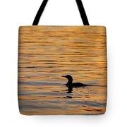 Loon At Sunset 6958 Tote Bag