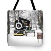 Loon Mountain Train Tote Bag