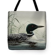 Loon Near The Shore Tote Bag by James Williamson