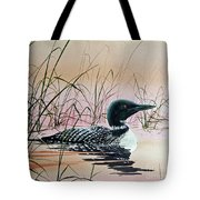 Loon Sunset Tote Bag by James Williamson