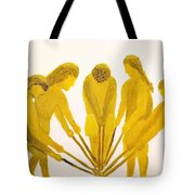 Loose Ball Third In Stickball Series Tote Bag