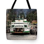 Lopez Island Ferry Tote Bag