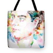 Lord Byron - Watercolor Portrait Tote Bag