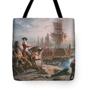 Lord Howe Organizes The British Evacuation Of Boston In March 1776 Tote Bag by English School