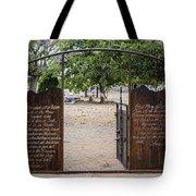 Lord's Prayer Hail Mary Gates 5184 Tote Bag