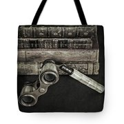Lorgnette With Books Tote Bag