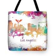 Los Angeles California Skyline Colored Tote Bag