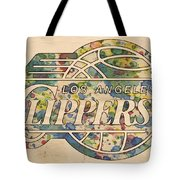 Los Angeles Clippers Poster Art Tote Bag