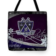 Los Angeles Kings Christmas Tote Bag