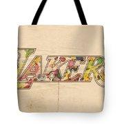 Los Angeles Lakers Logo Art Tote Bag