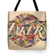 Los Angeles Lakers Poster Art Tote Bag