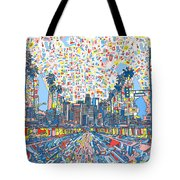 Los Angeles Skyline Abstract 3 Tote Bag