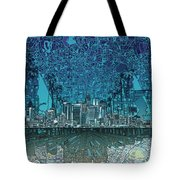 Los Angeles Skyline Abstract 5 Tote Bag