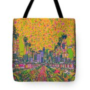 Los Angeles Skyline Abstract Tote Bag
