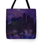 Los Angeles Skyline Brick Wall Mural Tote Bag