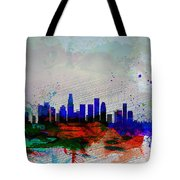 Los Angeles  Watercolor Skyline 1 Tote Bag