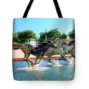 Los Colinas Mustangs 14698 Tote Bag