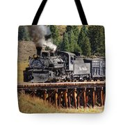 Los Pinos Bridge And Cattle Train Tote Bag