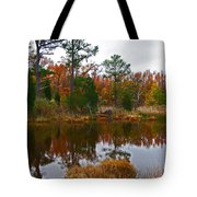 Lost In A Marsh Pond Tote Bag