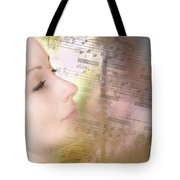 Lost In Music. It Is In The Rain Tote Bag