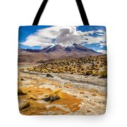Lost In The Bolivian Desert Framed Tote Bag