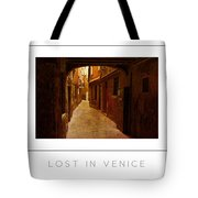 Lost In Venice Poster Tote Bag