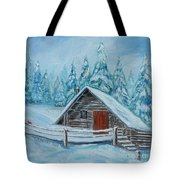 Lost Mountain Cabin Tote Bag