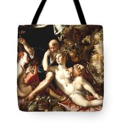 Lot And His Daughters Tote Bag by Joachim Antonisz Wtewael