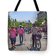 Lots Of People In Old Montreal-qc Tote Bag