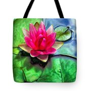 Lotus Blossom And Cloud Reflection Tote Bag