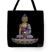 Lotus Buddha Tote Bag by Tim Gainey