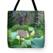 Lotus Flower In Lily Pond Tote Bag