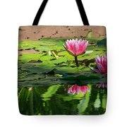 Lotus Flower Reflections Tote Bag