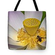 Lotus Pollinator Tote Bag