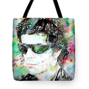 Lou Reed Watercolor Portrait.2 Tote Bag