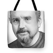 Louis Ck Portrait Tote Bag by Olga Shvartsur