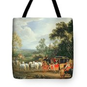 Louis Xiv In His State Coach Tote Bag