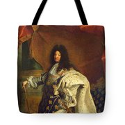 Louis Xiv In Royal Costume, 1701 Oil On Canvas Detail Of 59867 Tote Bag