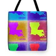 Louisiana Pop Art Map 2 Tote Bag