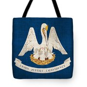 Louisiana State Flag Tote Bag