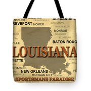 Louisiana State Pride Map Silhouette  Tote Bag